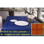 Mantel textil antimanchas CLASICO GRANATE