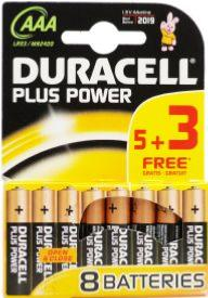 8 Pilas alcalinas R3 Duracell Plus Power