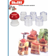 Kit de 6 moldes cortadores para sandwiches y canapes (decorador)