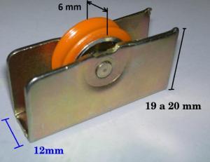 Rueda Con Rodamientos Metal 158 Para Ventanas De Aluminio