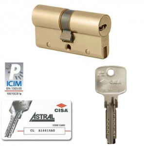 Bombillo de seguridad 30x50 Cisa Astral 80mm descentrado