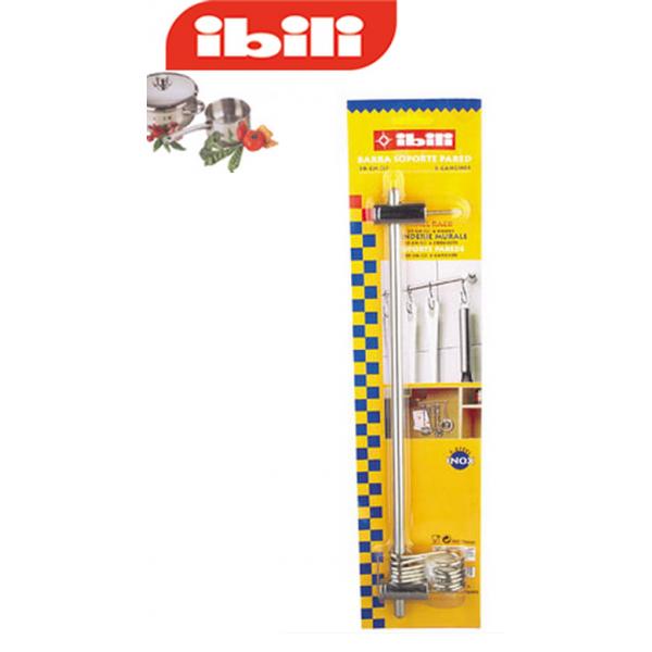 Barra colgador para utensilios de cocina 50 cm for Colgador utensilios de cocina